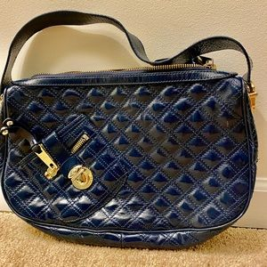 💯Authentic Marc Jacobs Quilted Navy Leather Purse